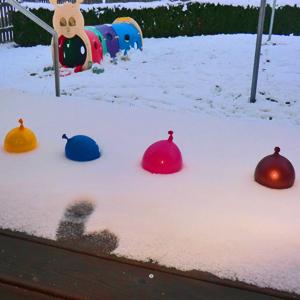 Experiment im Schnee
